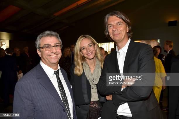 Michael Zilkha Rachelle Hruska and Sean MacPherson attend the Glenn O'Brien Memorial Celebration at SVA Theatre on September 10 2017 in New York City