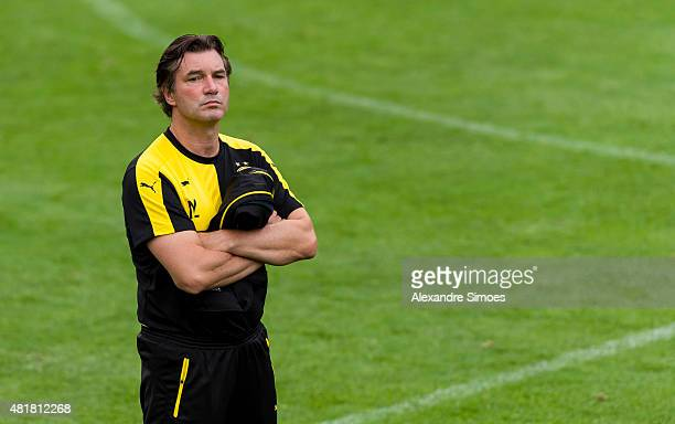 Michael Zorc during a training session at the Bad Ragaz training ground on July 24 2015 in Bad Ragaz Switzerland
