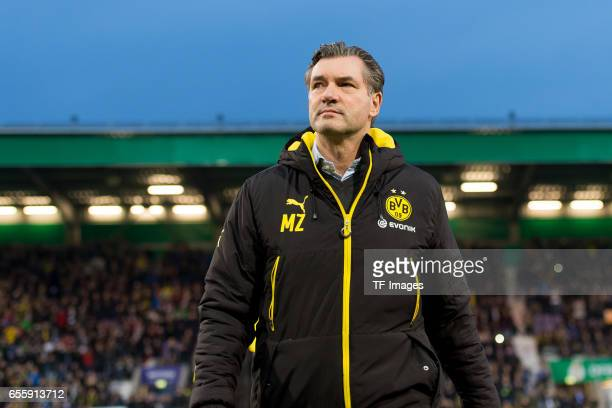 Michael Zorc of Dortmund during the DFB Cup Quarter Final match between Sportfreunde Lotte and Borussia Dortmund at the Stadion an der Bremer Bruecke...