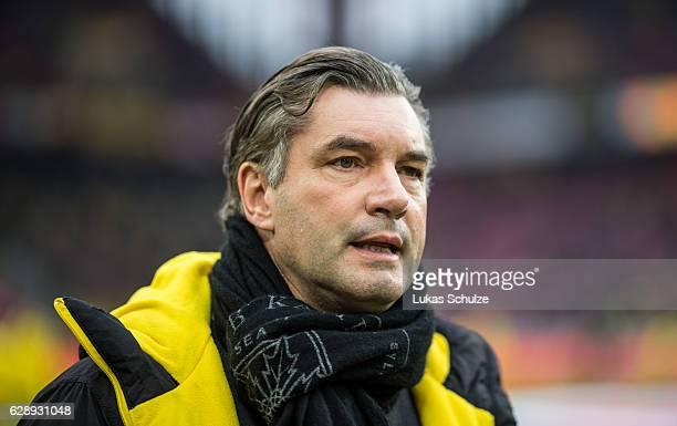 Michael Zorc of Dortmund is seen prior to the Bundesliga match between 1 FC Koeln and Borussia Dortmund at RheinEnergieStadion on December 10 2016 in...