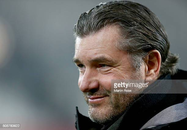 Michael Zorc sport director of Dortmund looks on before the friendly match between Borussia Dortmund and Sparta Prague at at Stadium Essen on January...