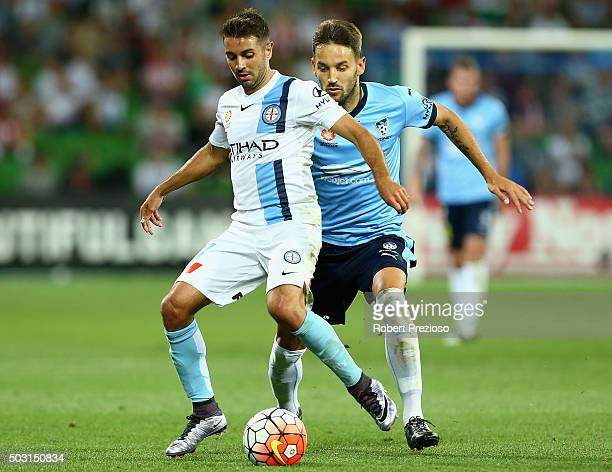 Michael Zullo of Melbourne City controls the ball during the round 13 ALeague match between Melbourne City FC and Sydney FC at AAMI Park on January 2...