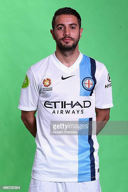 Michael Zullo poses during a photo session at Fox Sports Studio on September 2 2015 in Melbourne Australia