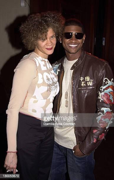 Michaela Angela Davis of Honey Magazine and Usher during MercedesBenz Fashion Week Spring 2004 Absolut Lifestyle and Honey Magazine present Dollhouse...
