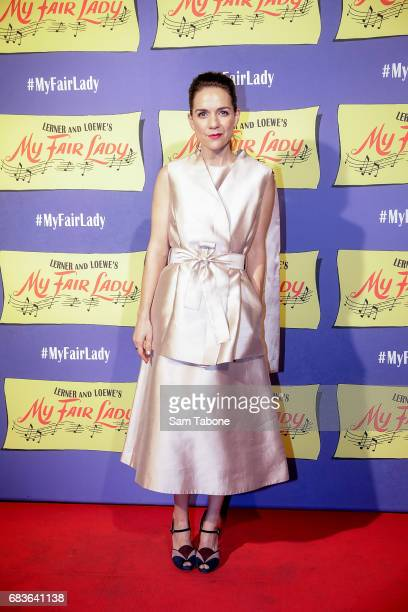 Michaela Banas arrives ahead of opening night of My Fair Lady at Regent Theatre on May 16 2017 in Melbourne Australia