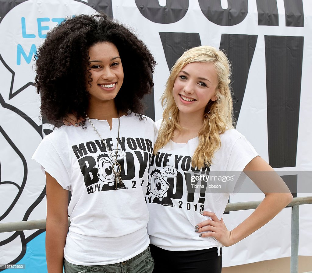 Michaela Blanks and Peyton List attend the WAT-AAH! Foundation's 3rd annual move your body 2013 event on May 1, 2013 in Los Angeles, California.