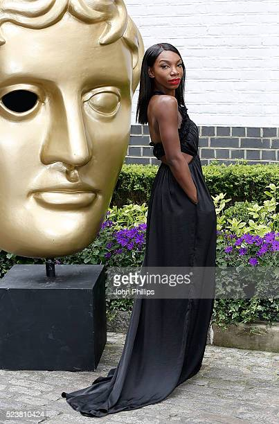Michaela Coel arrives for the British Academy Television Craft Awards at The Brewery on April 24 2016 in London England