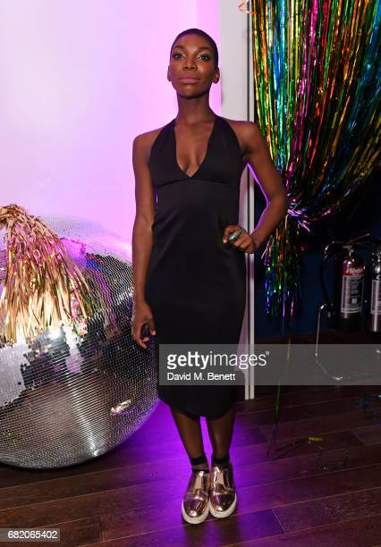 Michaela Coel attends the launch of The Curtain in Shoreditch on May 11 2017 in London England