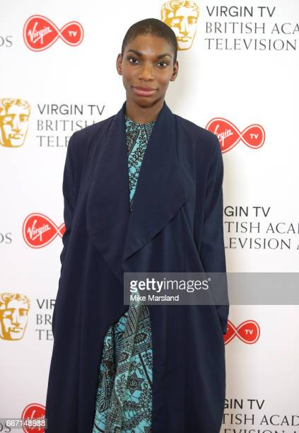 Michaela Coel attends the nominations announcement for the Virgin TV British Academy Television Awards at BAFTA on April 11 2017 in London England