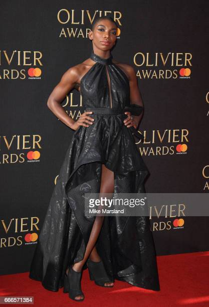 Michaela Coel attends The Olivier Awards 2017 at Royal Albert Hall on April 9 2017 in London England