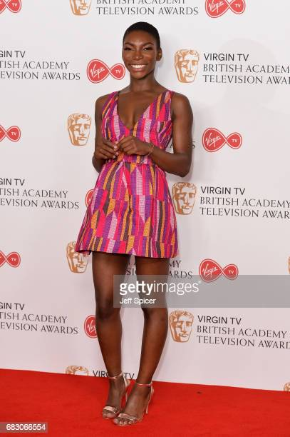Michaela Coel poses in the Winner's room at the Virgin TV BAFTA Television Awards at The Royal Festival Hall on May 14 2017 in London England