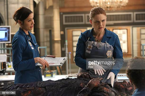 Michaela Conlin Emily Deschanel and TJ Thyne in the 'The Nightmare Within The Nightmare' season finale episode of BONES airing Thursday July 21 on FOX