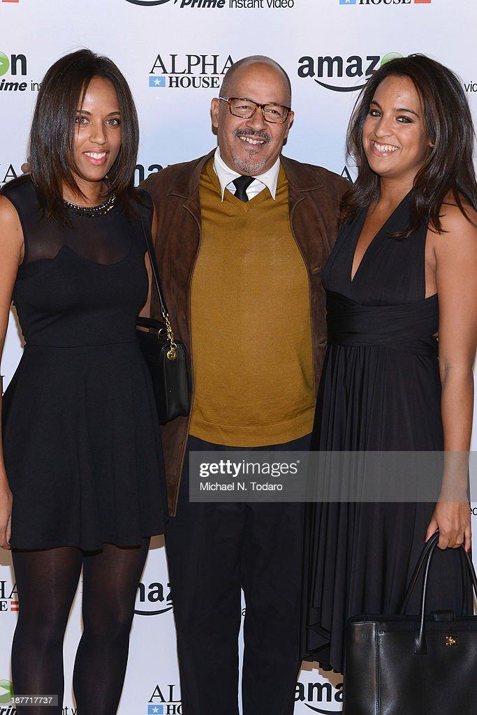Michaela Johnson Clark Johnson and Cassandra Johnson attend Amazon Studios Premiere Screening for 'Alpha House' on November 11 2013 in New York City