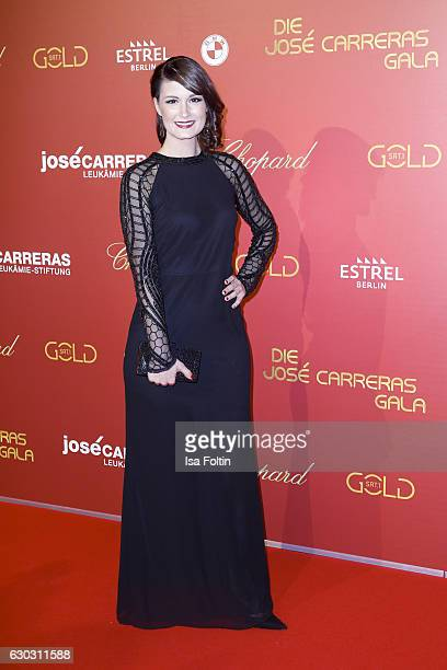 Michaela Kiermair program leader of Sat1 Gold attends the 22th Annual Jose Carreras Gala on December 14 2016 in Berlin Germany