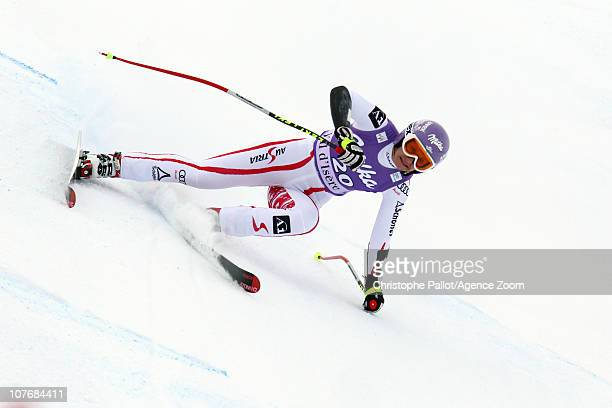 Michaela Kirchgasser of Austria in action during the Audi FIS Alpine Ski World Cup Women's Super Combined on December 19 2010 in Val d'Isere France