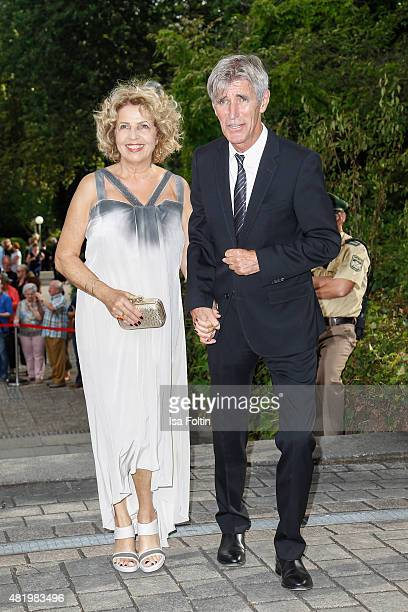 Michaela May and Bernd Schadewald attend the Bayreuth Festival 2015 Opening on July 25 2015 in Bayreuth Germany