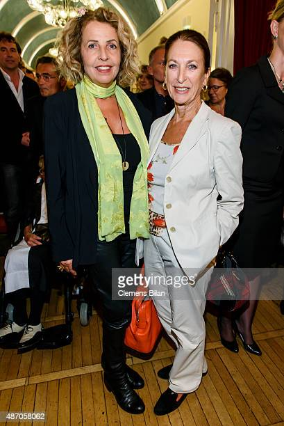 Michaela May and Daniela Ziegler attend the theatre premiere of 'Amadeus' with Dieter Hallervorden celebrating his 80th birthday on September 05 2015...