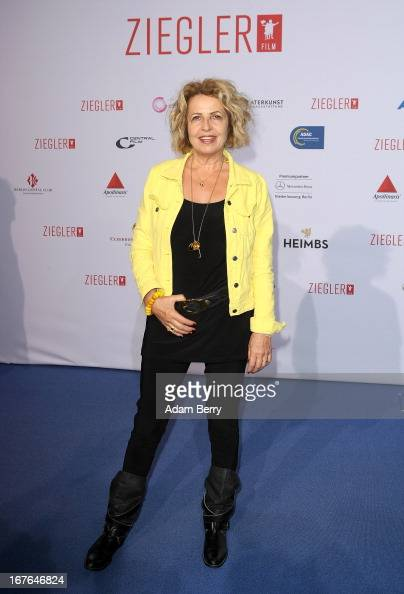 Michaela May arrives for a brunch celebrating 40 years of the Ziegler Film production company at Mercedes Welt on April 27 2013 in Berlin Germany...
