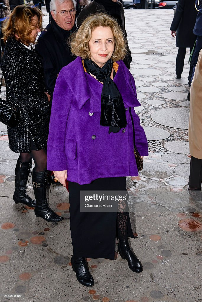 Michaela May attends the Wolfgang Rademann memorial service on February 11, 2016 in Berlin, Germany.