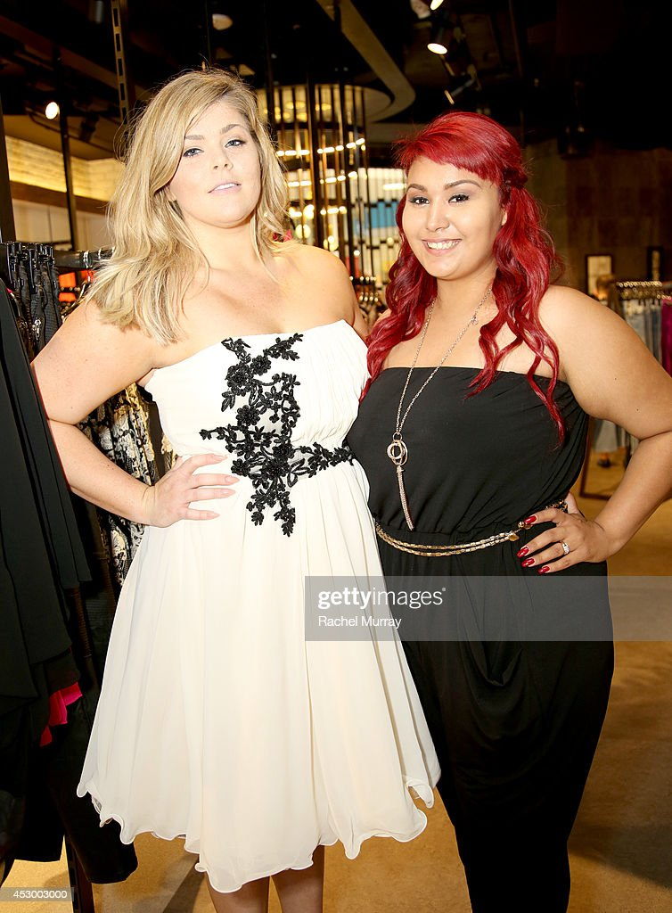 Michaela McGrady (L) and Jacqueline Ruano attend the City Chic Exclusive Preview: First U.S Store Culver City at Westfield Culver City Shopping Mall on July 31, 2014 in Culver City, California.