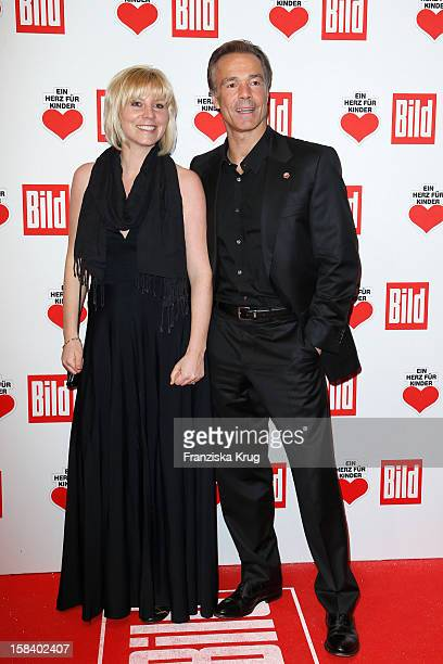 Michaela Merten and Hannes Jaenicke attend the 'Ein Herz Fuer Kinder Gala 2012' on December 15 2012 in Berlin Germany