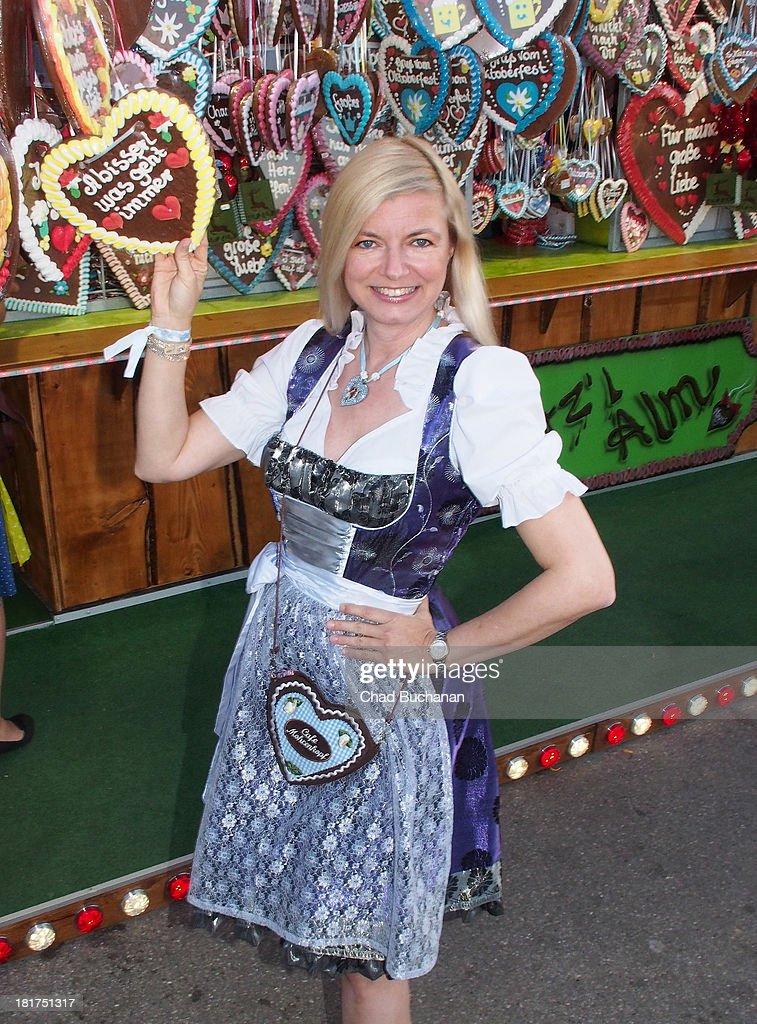 Michaela Merten sighting at Theresienwiese on September 24, 2013 in Munich, Germany.