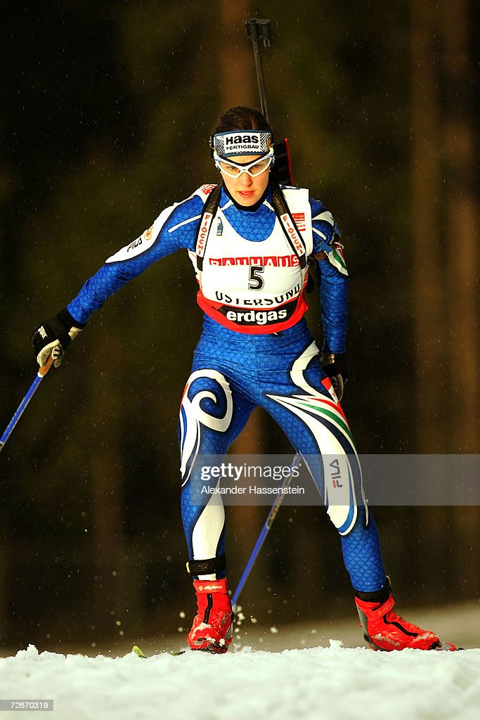 Michaela Ponza of Italy in action during the first Women 15 km Individual Biathlon event of the season, on November 29, 2006 in Ostersund, Sweden.