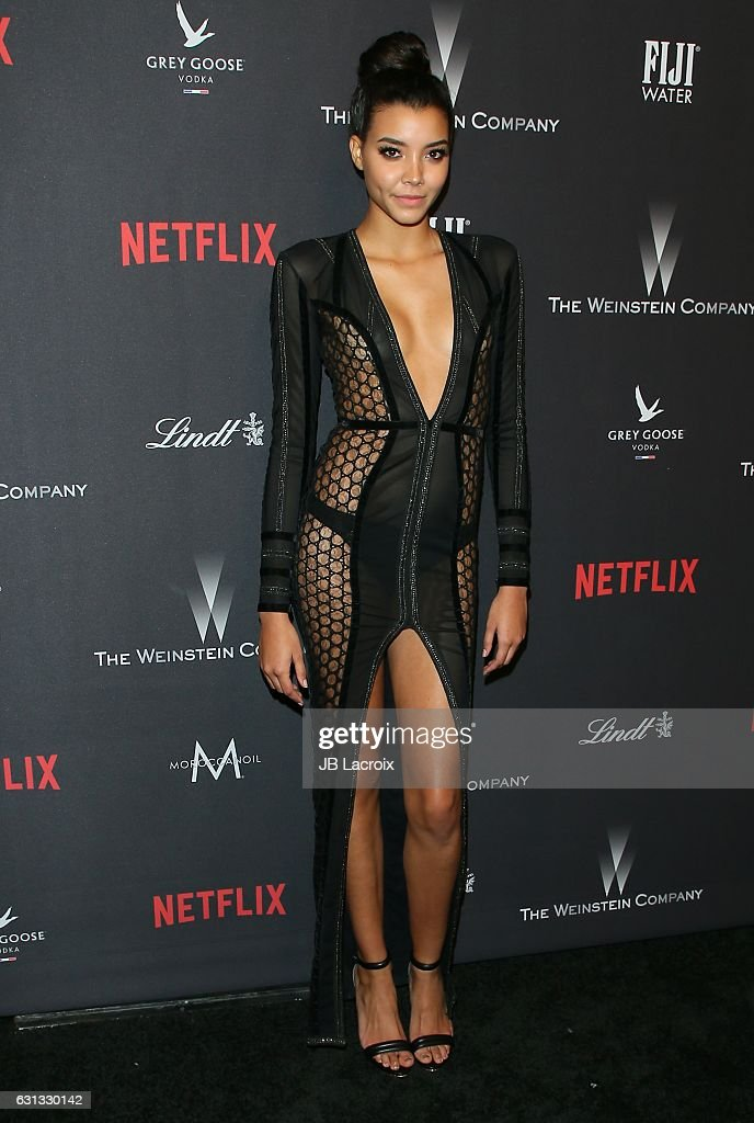 Michaela Rivera attends The Weinstein Company and Netflix Golden Globe Party, presented with FIJI Water, Grey Goose Vodka, Lindt Chocolate, and Moroccan Oil at The Beverly Hilton Hotel on January 8, 2017 in Los Angeles, California.