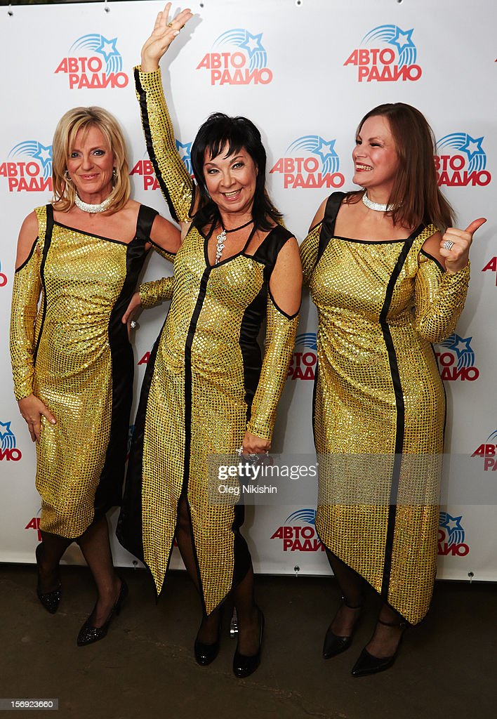 Michaela Rose, Sabine Kaemper, Silke Brauner from 'Arabesque' attend the 'Disco Of The 80th Rock & Dance' in Olympisky on November 24, 2012 in Moscow, Russia.