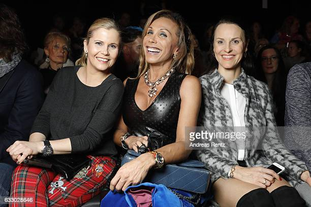 Michaela Schaffrath and Julia Prillwitz attend the Thomas Rath show during Platform Fashion January 2017 at Areal Boehler on January 29 2017 in...
