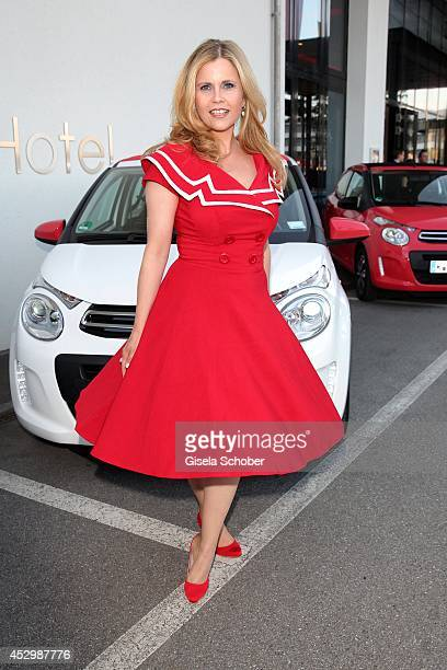 Michaela Schaffrath attends the Citroen C4 Cactus Munich preview on July 31 2014 in Munich Germany