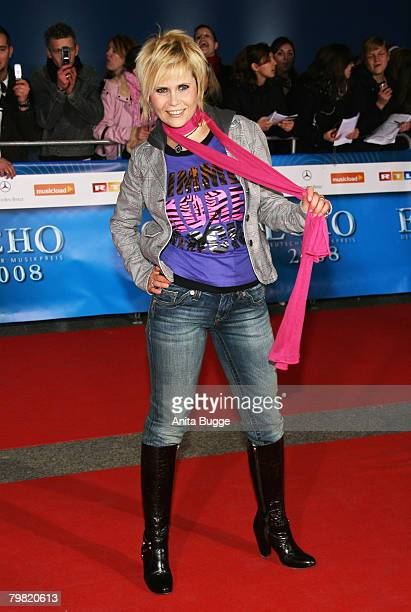 Michaela Schaffrath attends the Echo Awards 2008 at the ICC Centre on February 15 2008 in Berlin Germany