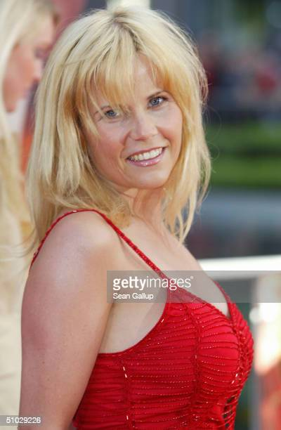 Michaela Schaffrath attends the German premiere of 'SpiderMan 2' at the Sony Center on July 6 2004 in Berlin Germany