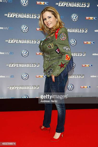 Michaela Schaffrath attends the German premiere of the film 'The Expendables 3' at Residenz Kino on August 6 2014 in Cologne Germany