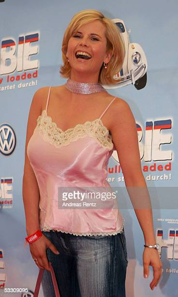 Michaela Schaffrath attends the German premiere of the movie 'Herbie Fully Loaded' on July 30 2005 in Berlin Germany The movie starts at the 4th of...