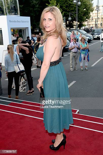 Michaela Schaffrath attends the Irene Luft Show during the MercedesBenz Fashion Week Spring/Summer 2014 at Brandenburg Gate on July 4 2013 in Berlin...