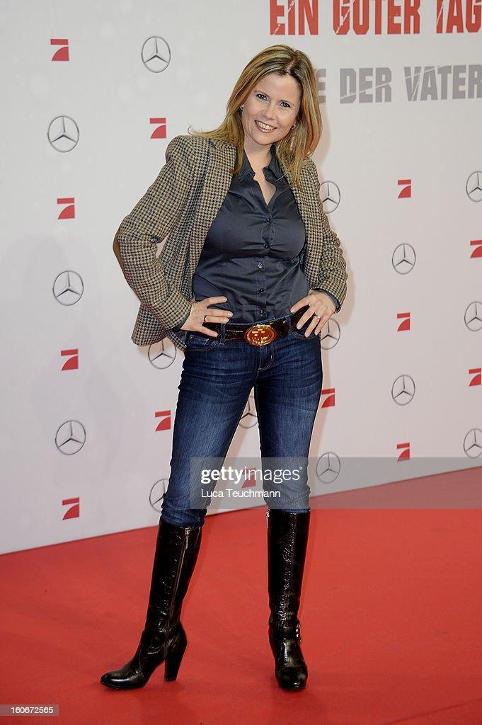 Michaela Schaffrath attends the premiere of 'Die Hard - Ein Guter Tag Zum Sterben' at Sony Center on February 4, 2013 in Berlin, Germany.