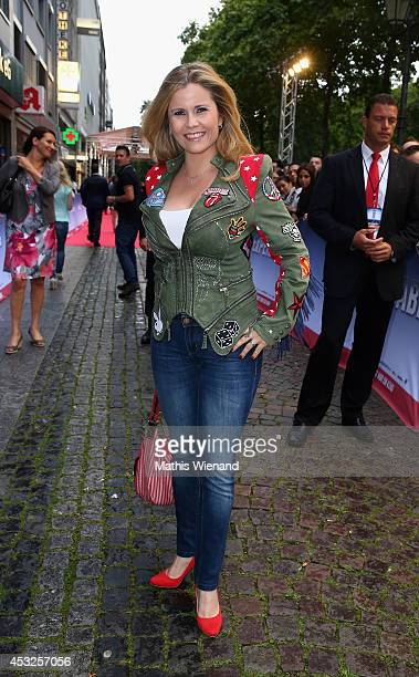 Michaela Schaffrath attends the premiere of the film 'The Expendables 3' at Residenz Kino on August 6 2014 in Cologne Germany
