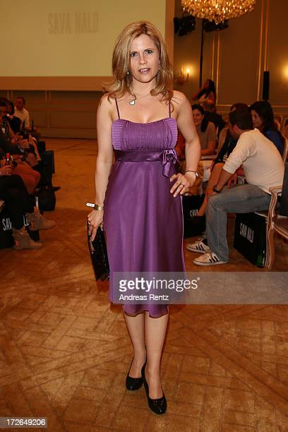 Michaela Schaffrath attends the Sava Nald Show during the MercedesBenz Fashion Week Spring/Summer 2014 at Hotel Adlon on July 4 2013 in Berlin Germany