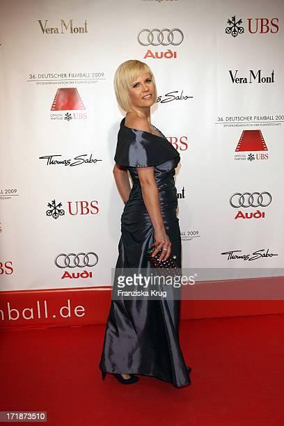 Michaela Schaffrath On Arrival to '36th German Film Ball' at Hotel Bayerischer Hof in Munich
