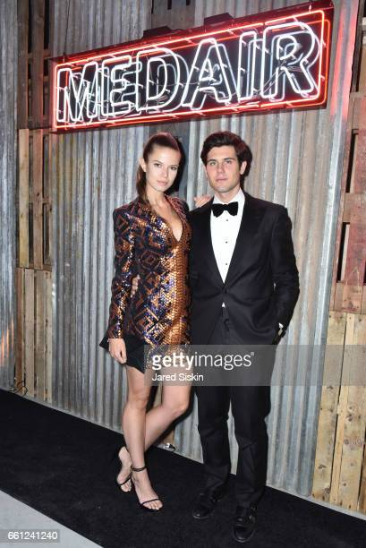 Michaela Vybohova and Alexandre Assouline attend the First Annual Medair Gala at Stephan Weiss Studio on March 30 2017 in New York City