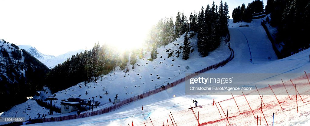 Michaela Wening of Germany competes during the Audi FIS Alpine Ski World Cup Women's Downhill on January 12 2013 in St Anton Austria