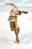 MichaelaLucie Hanzlikova of Czech Republic skates during the junior ladies short dance of the ISU Junior Grand Prix at Dom Sportova on October 8 2015...