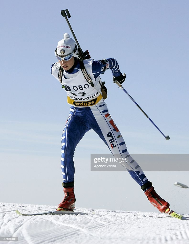 Michaele Ponza of Italy in action during the IBU Biathlon World Cup Women's 7,5km Sprint on March 23, 2006 in Holmenkollen, Norway.