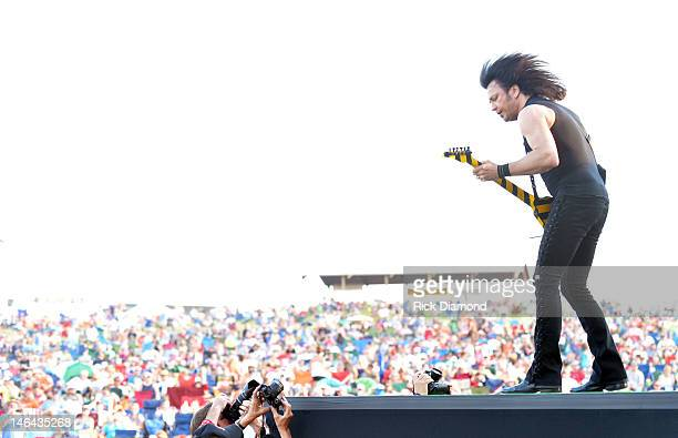 Michaell Sweet of Stryper performs at the 2012 BamaJam Music and Arts Festival Day 2 on BamaJam Farms in Enterprise Alabama on June 15 2012