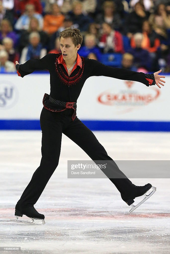 Michal Brezina of the Czech Republic skates during the men's short program at the ISU GP 2013 Skate Canada International at Harbour Station on October 25, 2013 in Saint John, New Brunswick, Canada.