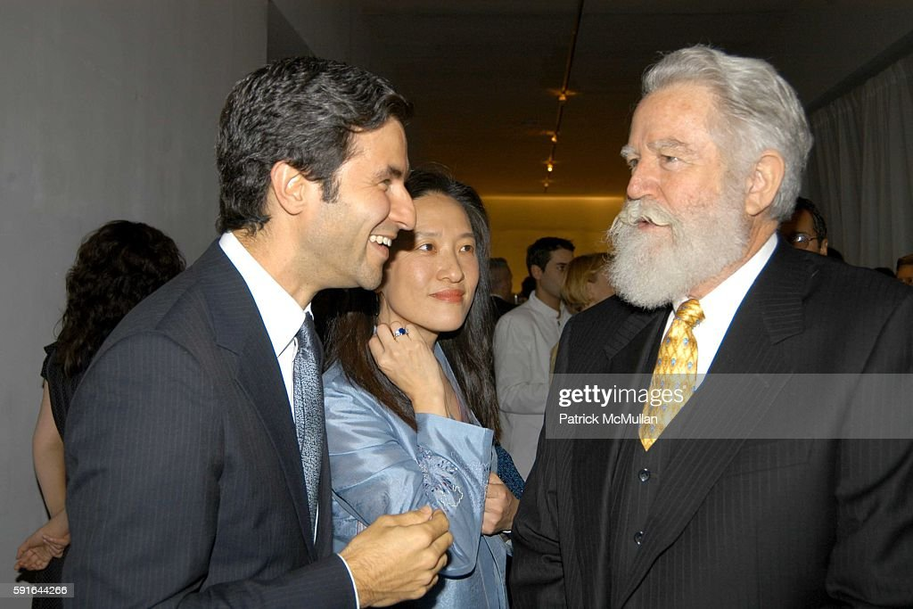 Michal Govan KyungLim Lee and James Turrell attend Dia Art Foundation Fall Gala 2005 at Skylight on November 4 2005 in New York City
