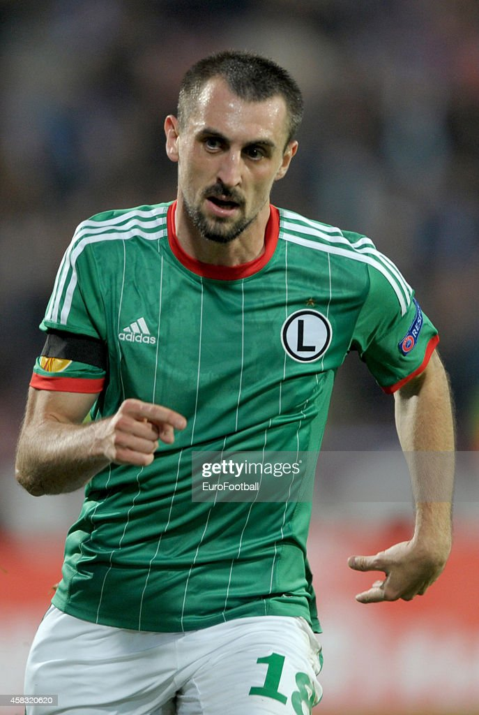 Michal Kucharczyk of Legia Warszawa in action during the UEFA Europa League Group L match between Trabzonspor AS and Legia Warszawa at the Hüseyin...