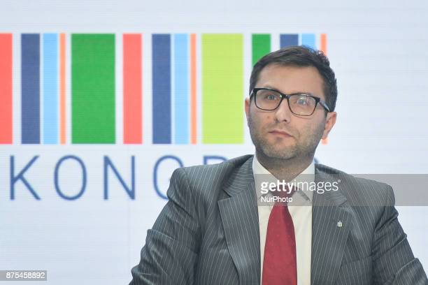 Michal Kuczmierowski Marketing and Communication Director at PKO Bank Polska seen during a panel discussion about Polish Football during Congress 590...