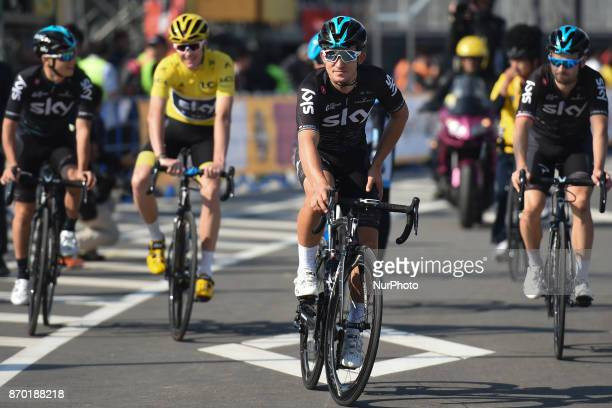 Michal KWIATKOWSKI and Team SKY ahead of the start to 589km Main Race of the 5th edition of TDF Saitama Criterium 2017 On Saturday 4 November 2017 in...